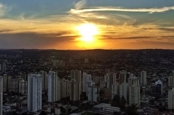 Pôr do sol em Goiânia